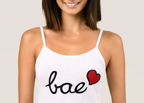 Bae baby love text with red heart - Zazzle BranBrangifts