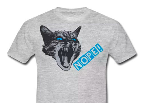 Really angry kitty cat NOPE - Spreadshirt.net BranBran
